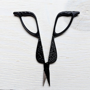 Primitive Black Mermaid Tail Embroidery Scissors