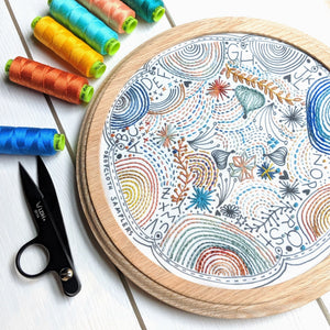 Dropcloth Embroidery Samplers :: Disco Nap Sampler Patterns - Snuggly Monkey