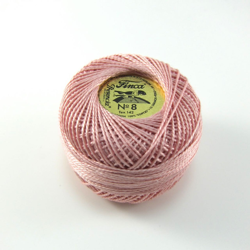 Pale Pink Finca Perle Cotton Thread