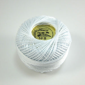 White Finca Perle Cotton Thread (0001)