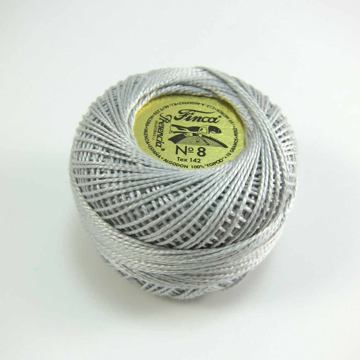 Light Gray Finca Perle Cotton Thread (8728) Perle Cotton - Snuggly Monkey
