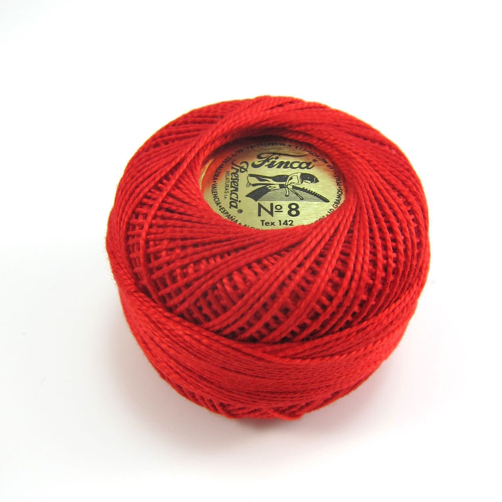 Red Finca Perle Cotton Thread
