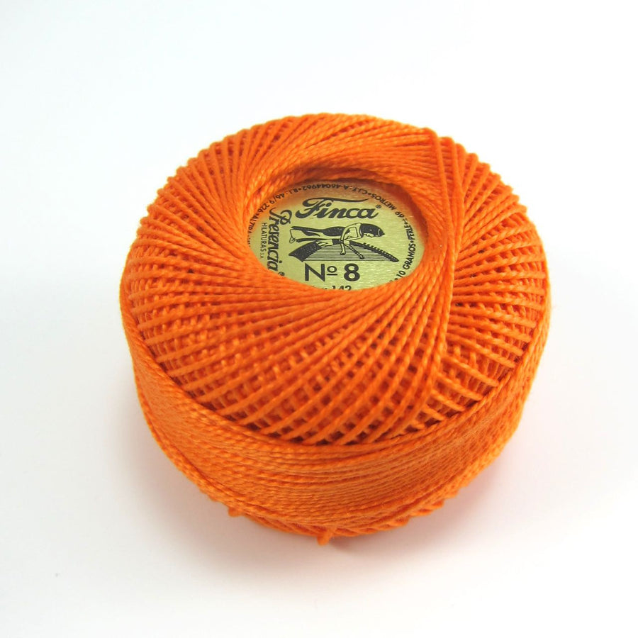 Tangerine Orange Finca Perle Cotton Thread (1237)