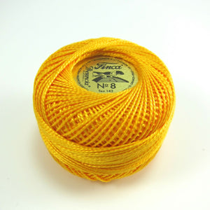 Deep Canary Yellow Finca Perle Cotton Thread (1232) Perle Cotton - Snuggly Monkey