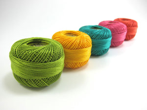 Modern Brights Pearl Cotton Thread Set Perle Cotton - Snuggly Monkey