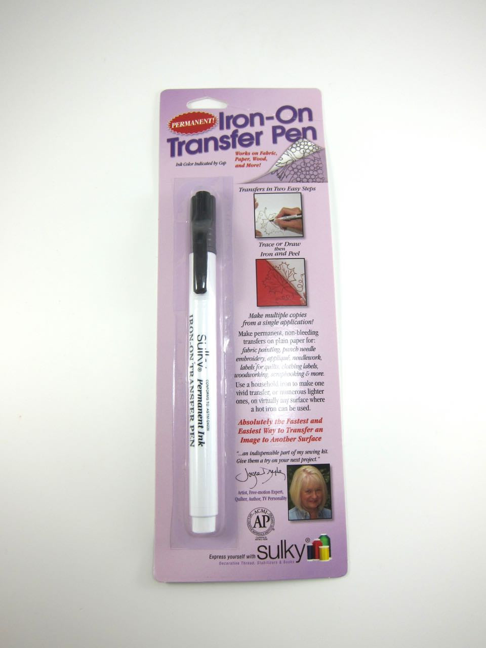 Black Sulky Iron-on Transfer Pen Marker - Snuggly Monkey