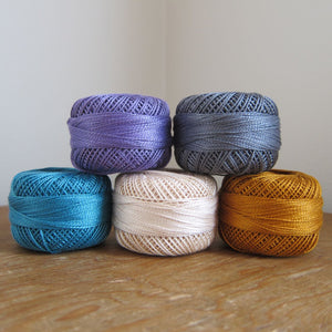 Indelible inspired Pearl Cotton Thread Collection Perle Cotton - Snuggly Monkey