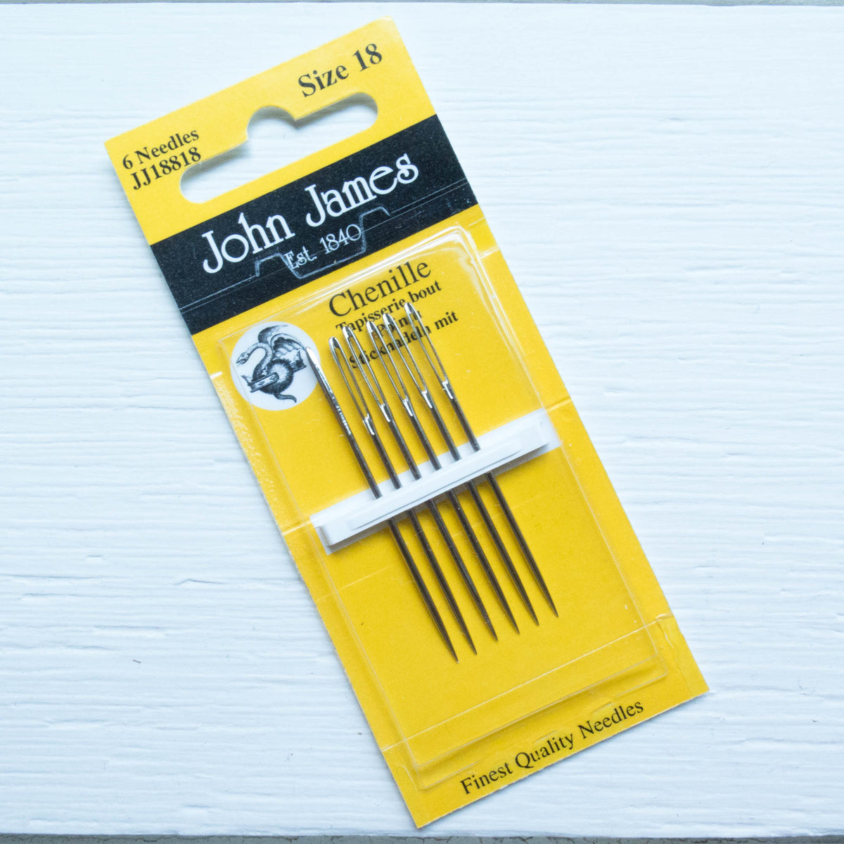John James Chenille Needles - Size 18 Needles - Snuggly Monkey