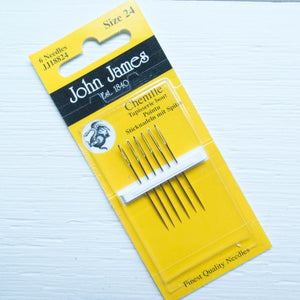 John James Chenille Needles - Size 24 Needles - Snuggly Monkey