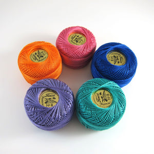 Jewel Pearl Cotton Thread Collection Perle Cotton - Snuggly Monkey