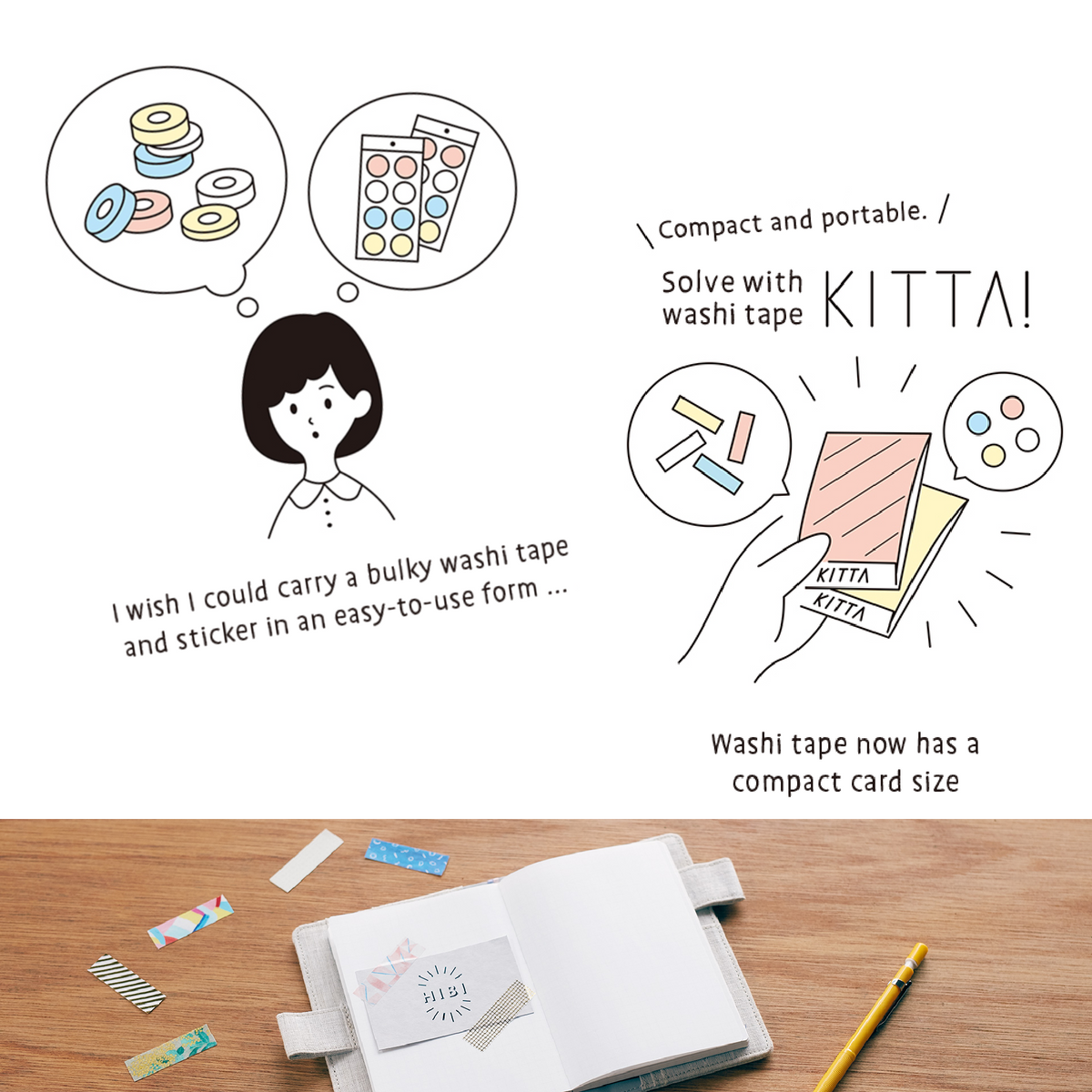 KITTA Washi Tape Tabs - Tile
