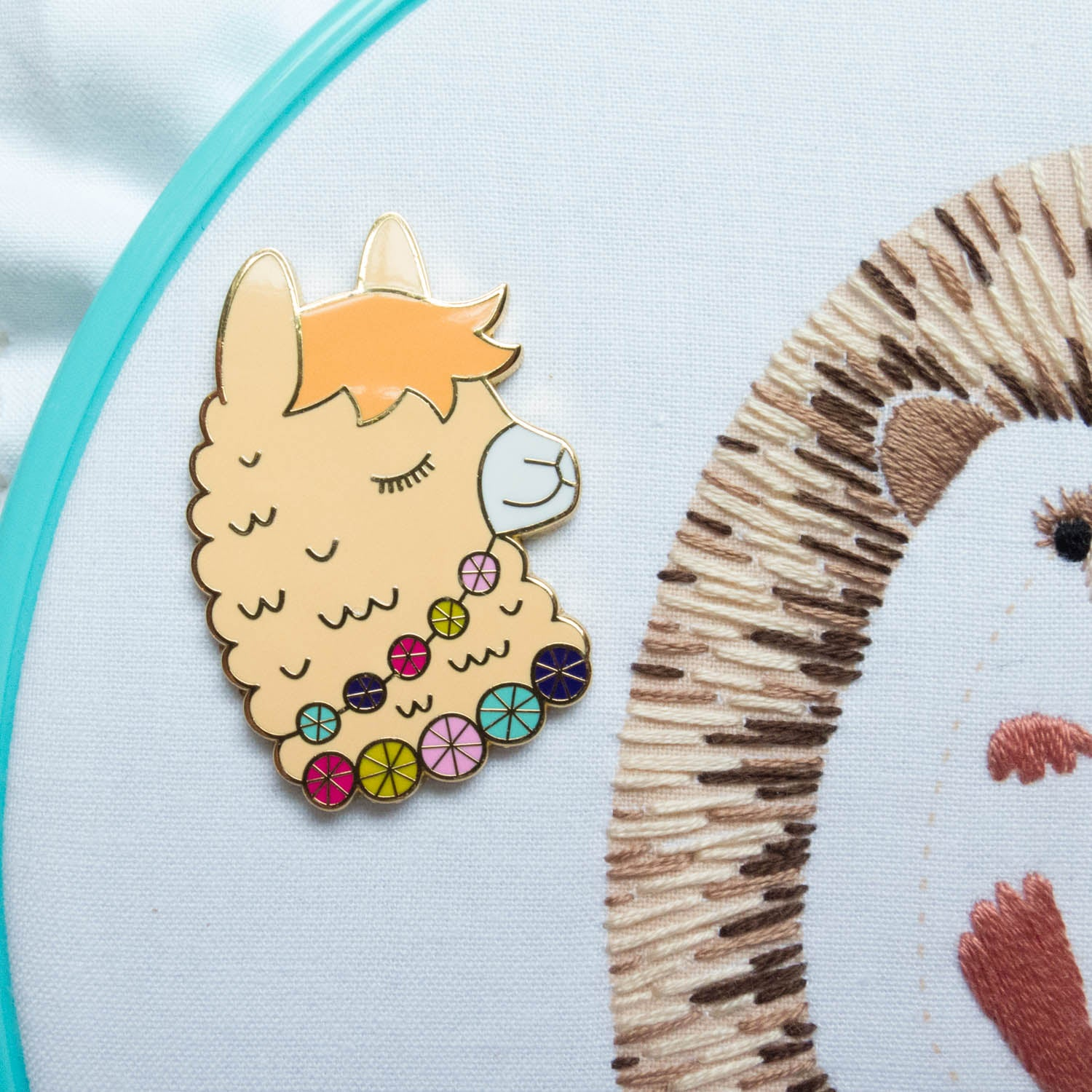 Cute Llama Needleminder Needle Minder - Snuggly Monkey