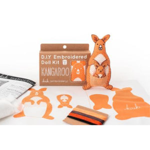 Kangaroo Plushie Embroidery Kit by Kiriki Press Embroidery Kit - Snuggly Monkey