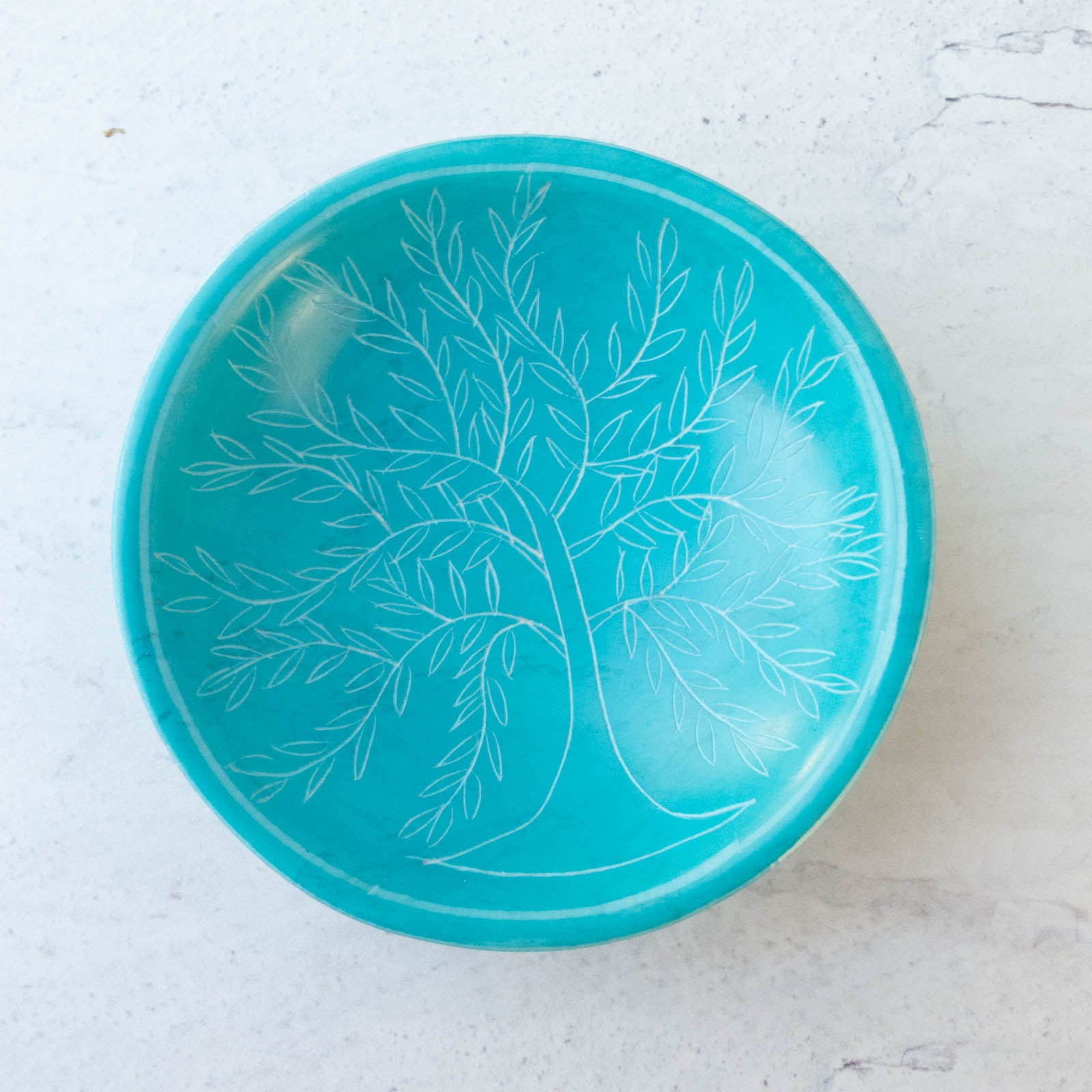 Teal Tree of Life Pin Bowl