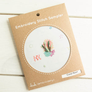 Kiriki Press Embroidery Stitch Sampler - Coral Reef