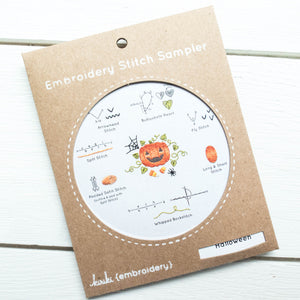 Kiriki Press Embroidery Stitch Sampler - Halloween
