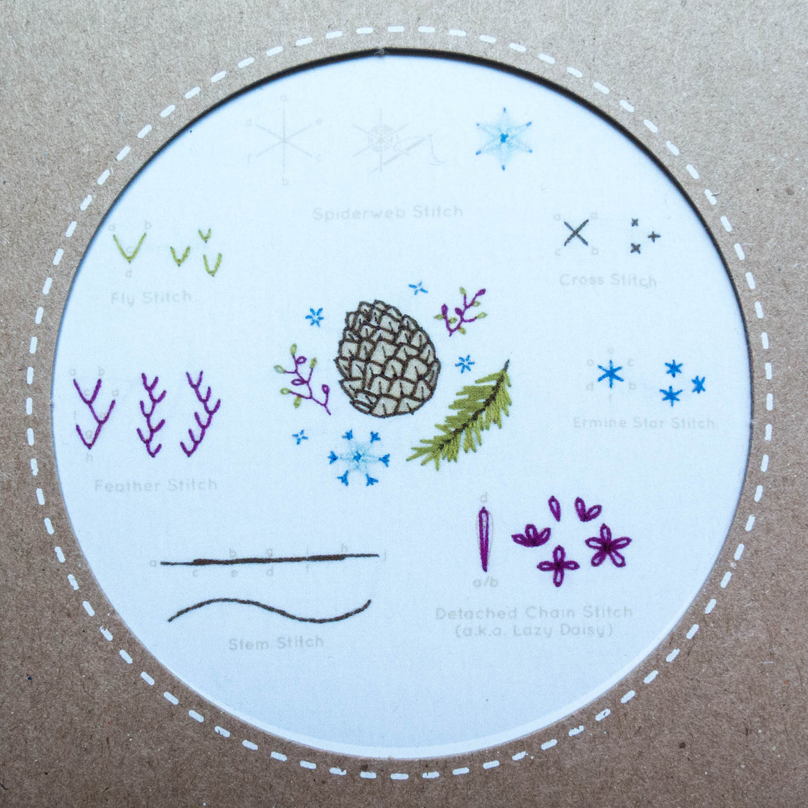 Kiriki Press Embroidery Stitch Sampler - Winter
