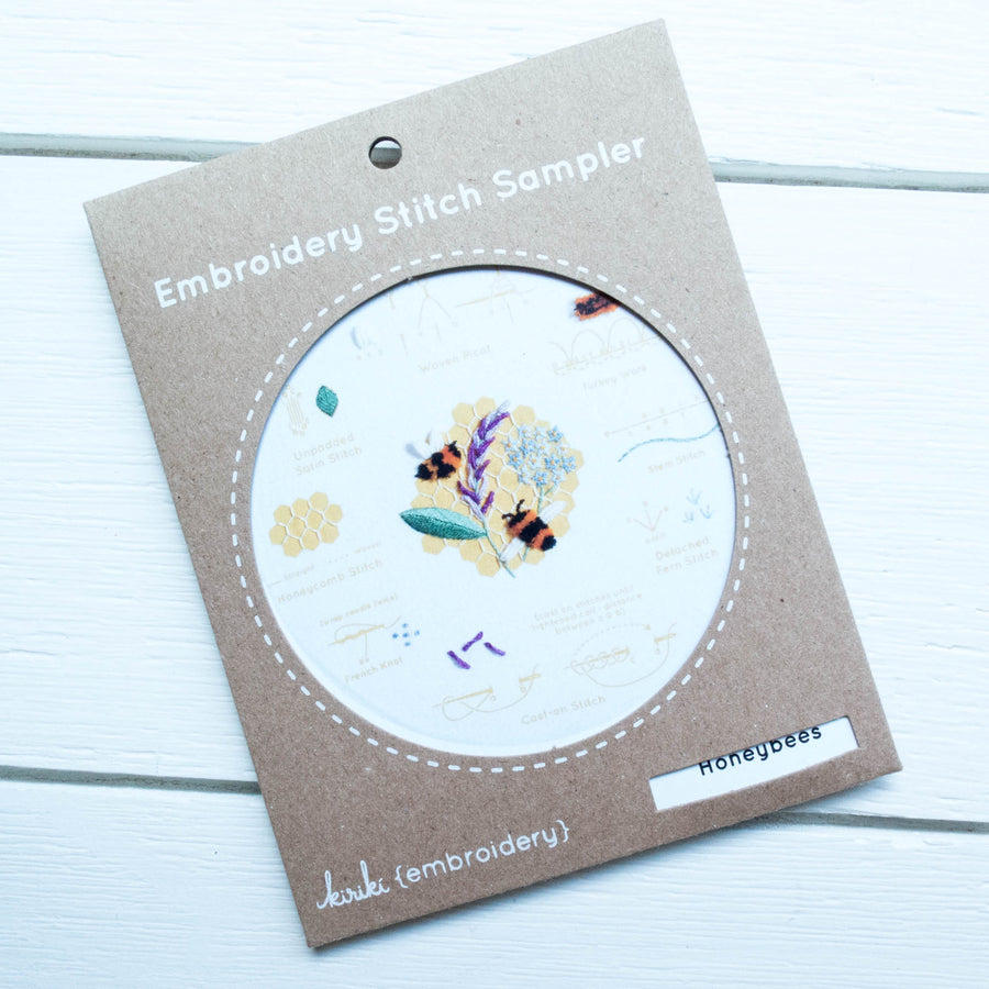 Kiriki Press Embroidery Stitch Sampler - Honeybees