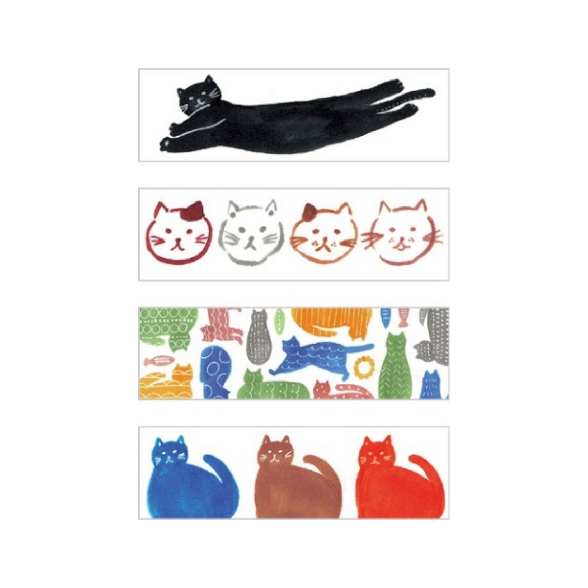 KITTA Washi Tape Tabs - Cat