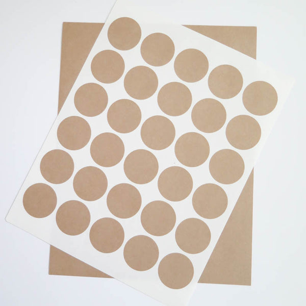 Circular Kraft Labels - 1.5 inch Circle Stickers