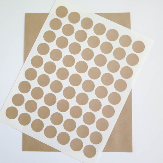 Circular Kraft Labels - 1 inch Circles