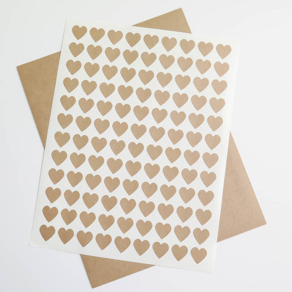 Mini Heart Kraft Labels