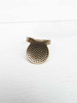 Bronze Metal Sashiko Thimble Sashiko - Snuggly Monkey