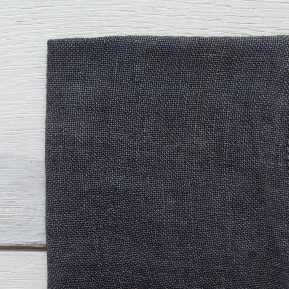 Weeks Dye Works Hand Dyed Linen - Gun Metal Black 32 ct Fabric - Snuggly Monkey