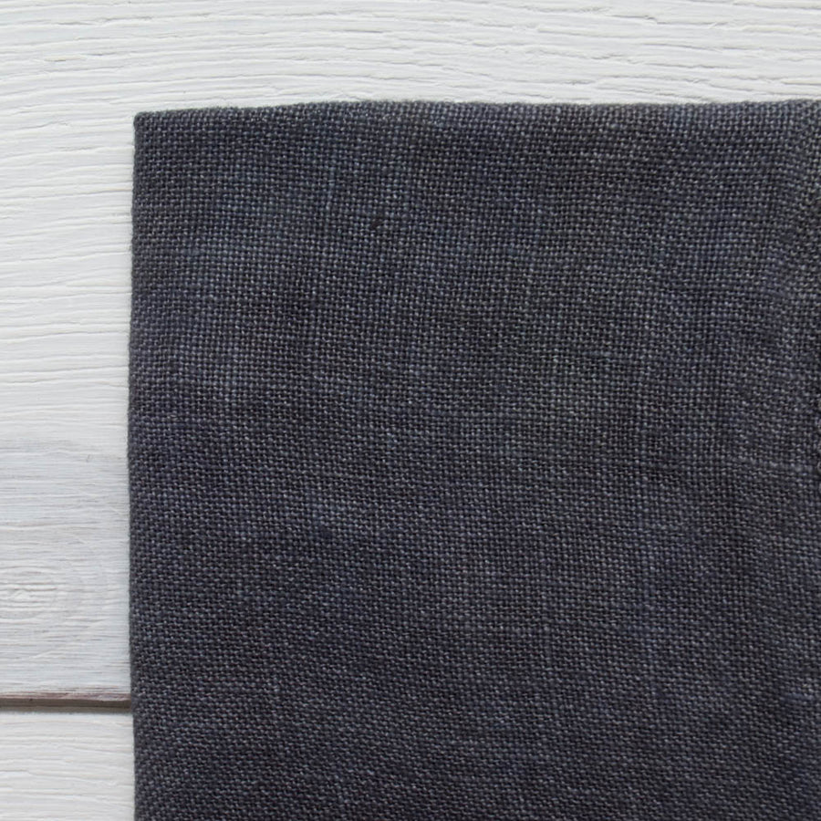 Weeks Dye Works Hand Dyed Linen - Gun Metal Black 32 ct