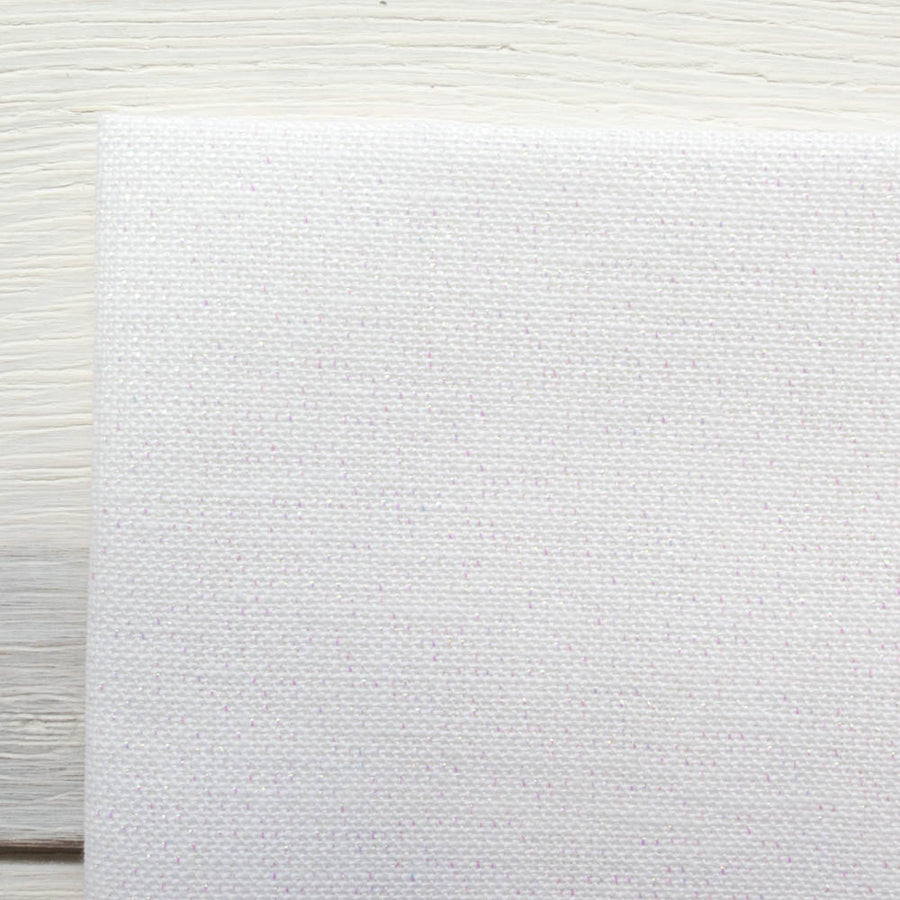 White Metallic Cross Stitch Linen (28 ct)