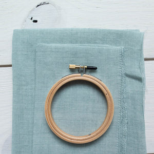 Weeks Dye Works Hand Dyed Linen - Sea Foam 32 ct