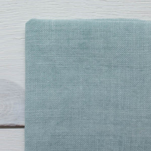 Weeks Dye Works Hand Dyed Linen - Sea Foam 32 ct Fabric - Snuggly Monkey