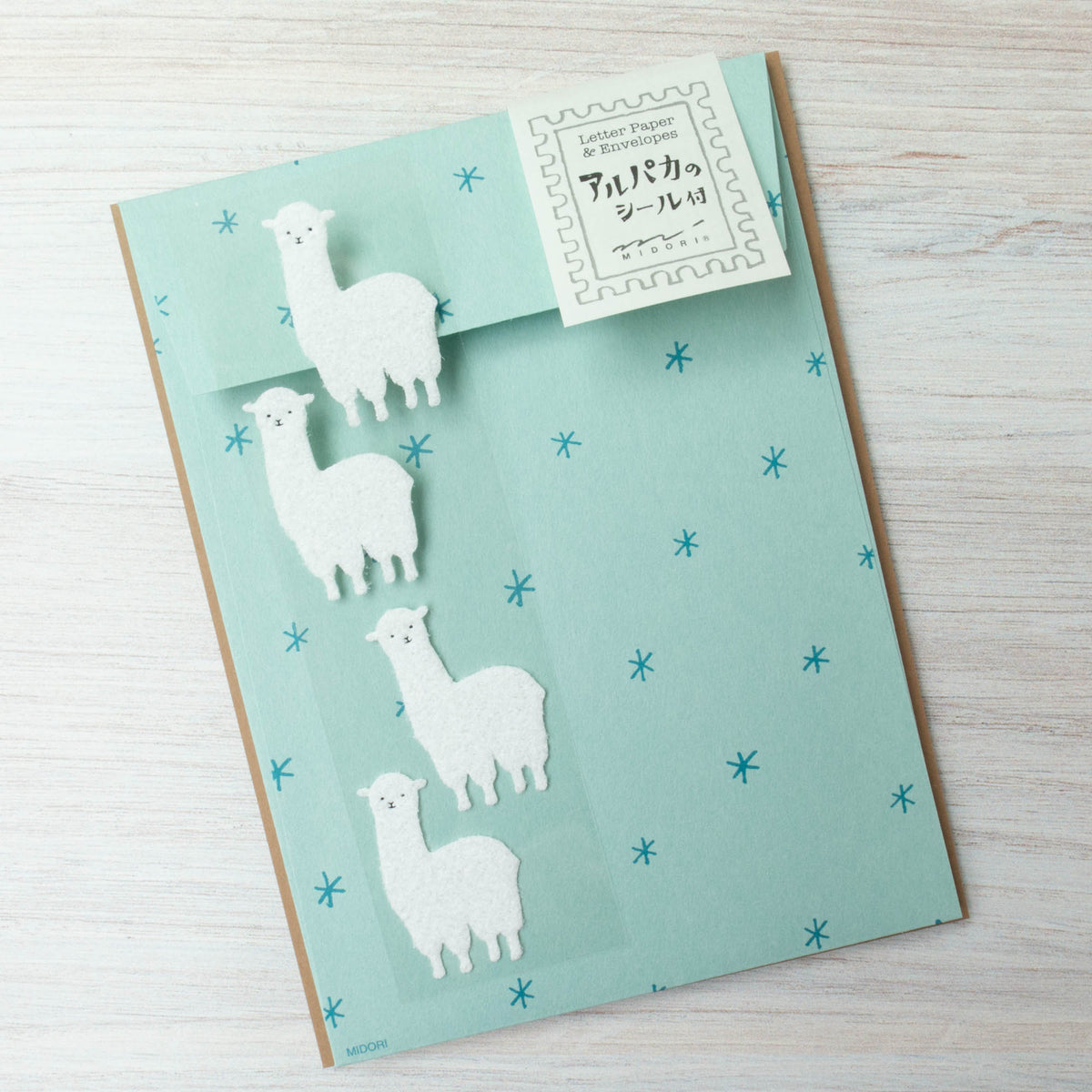Japanese Letter Writing Set - Alpacas