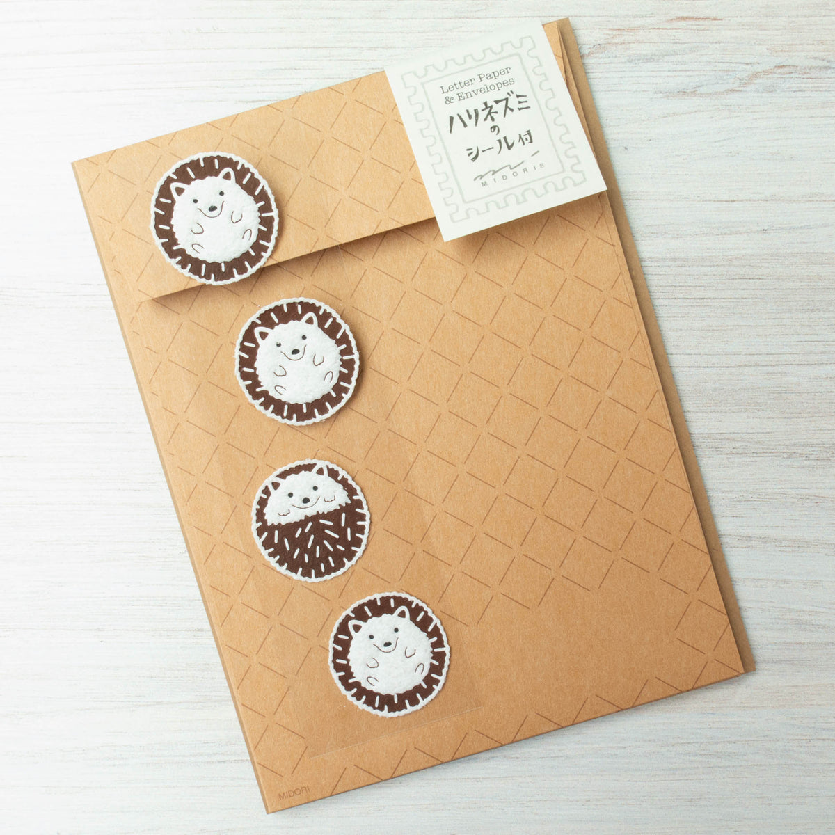Japanese Letter Writing Set - Hedgehog