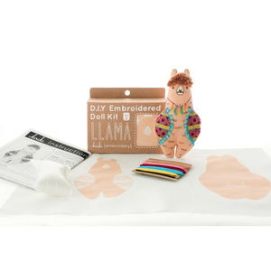 Llama Plushie Embroidery Kit by Kiriki Press