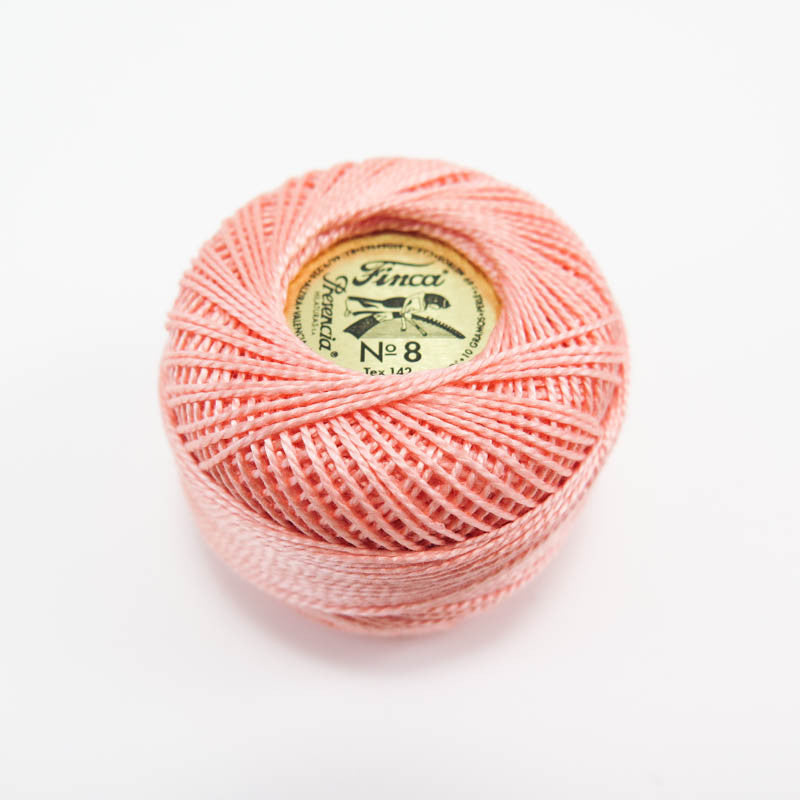 Light Apricot Finca Perle Cotton Thread