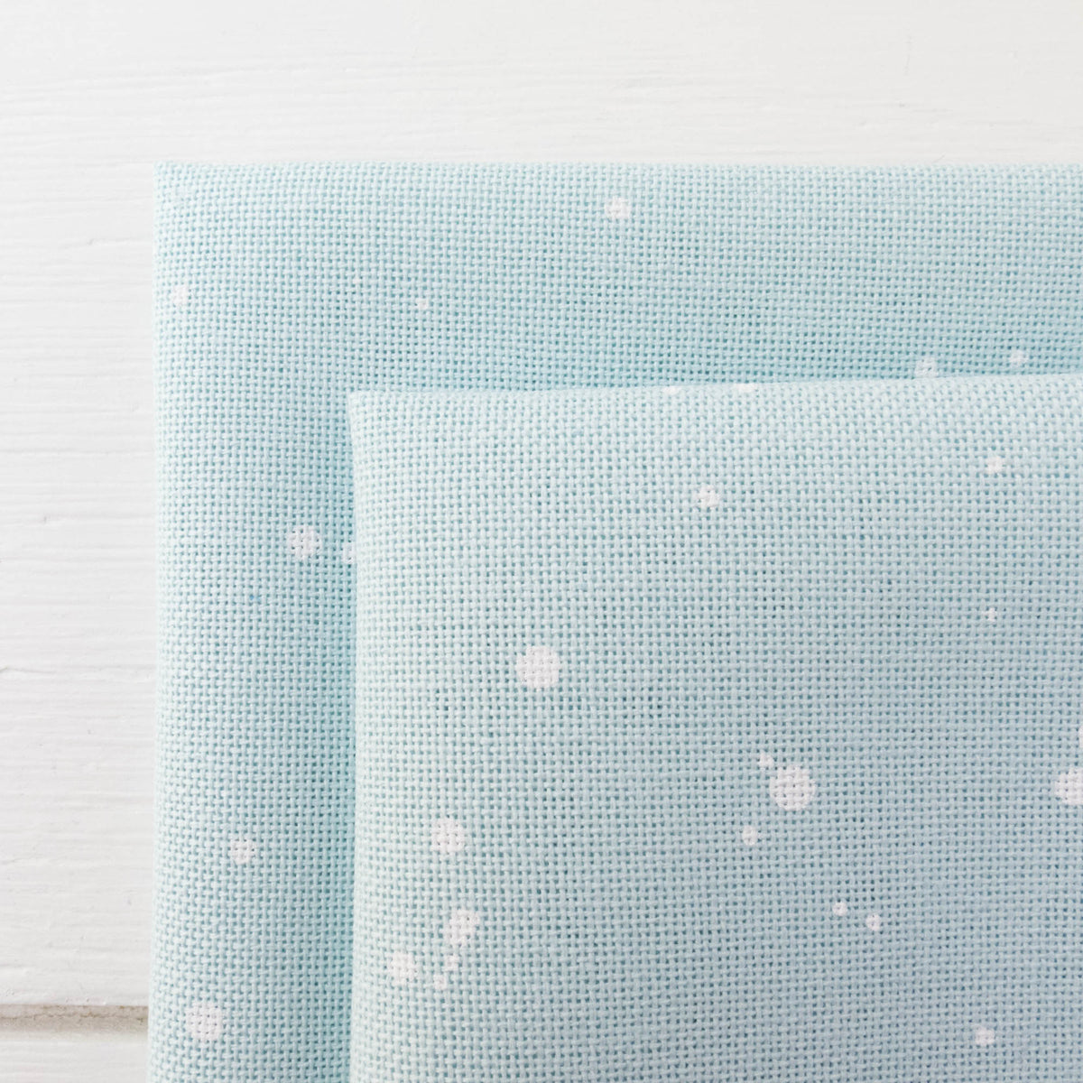 Lugana 32 ct - Mint Splash Fabric - Snuggly Monkey