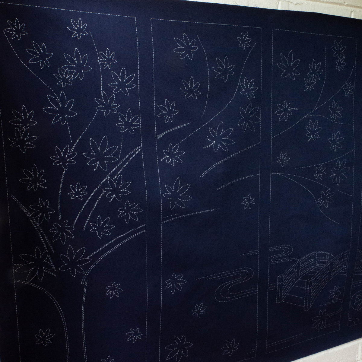 Large Sashiko Panel - Maple Tree