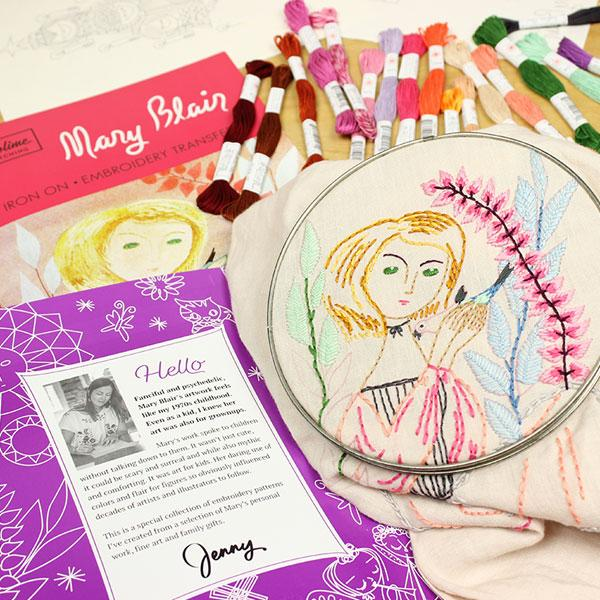 Mary Blair Embroidery Pattern Portfolio Patterns - Snuggly Monkey