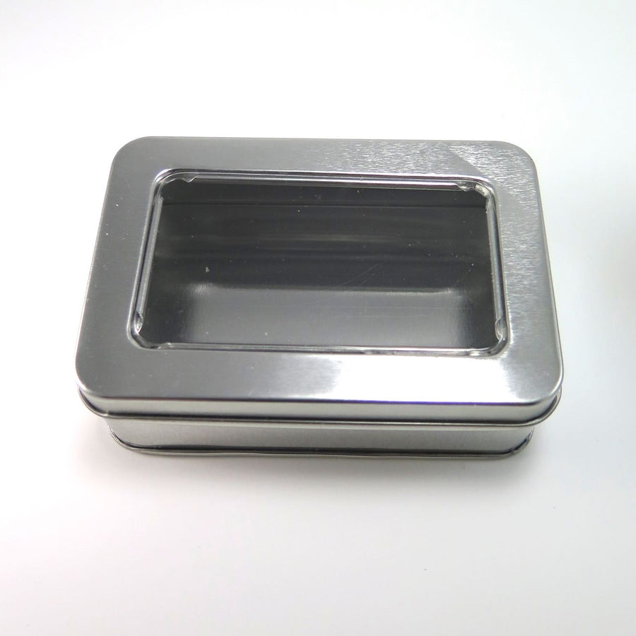 Rectangle Steel Tins with Window (4.25 inch)