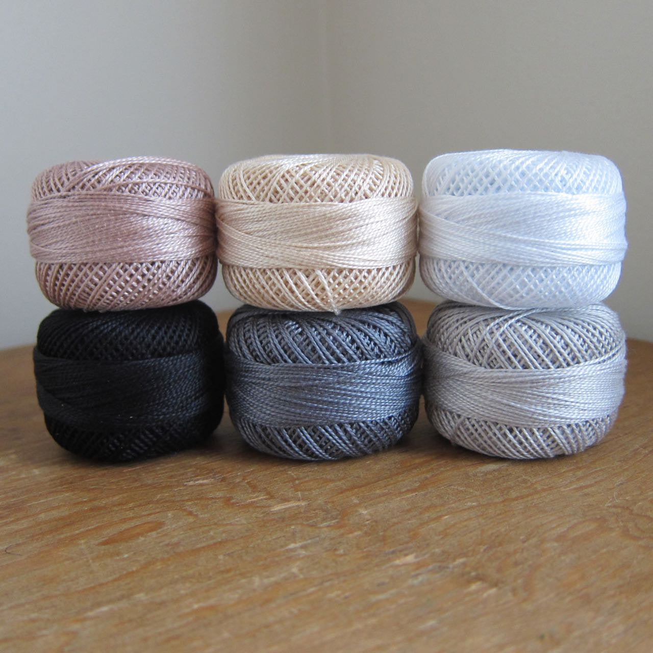 Neutrals Pearl Cotton Thread Set (Size 8) Perle Cotton - Snuggly Monkey