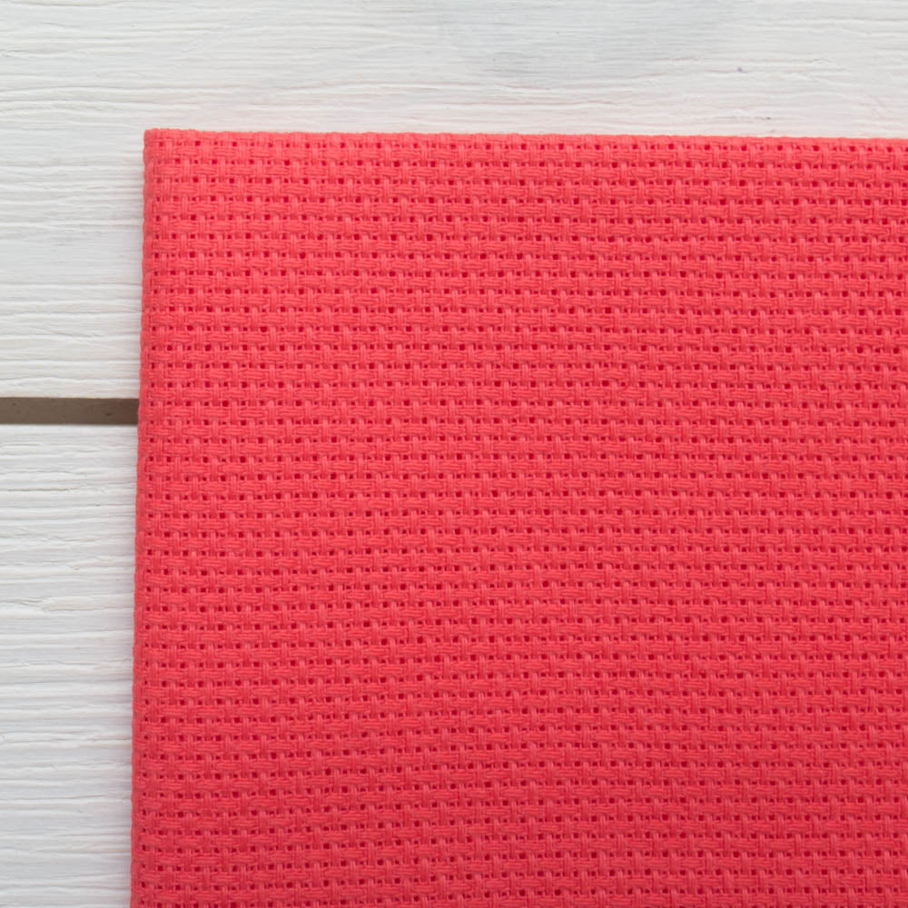 Aida Cross Stitch Fabric - Riviera Coral (14 ct)
