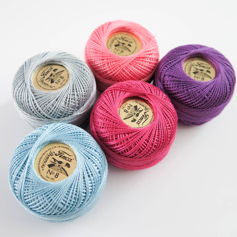 Pearl Cotton Thread Set - Size 8 Presencia Finca Perle Cotton - Lara Set