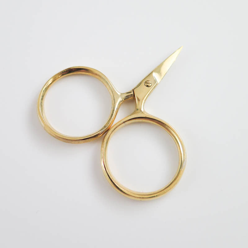 Modern Embroidery Scissors - Putford Gold Scissors - Snuggly Monkey