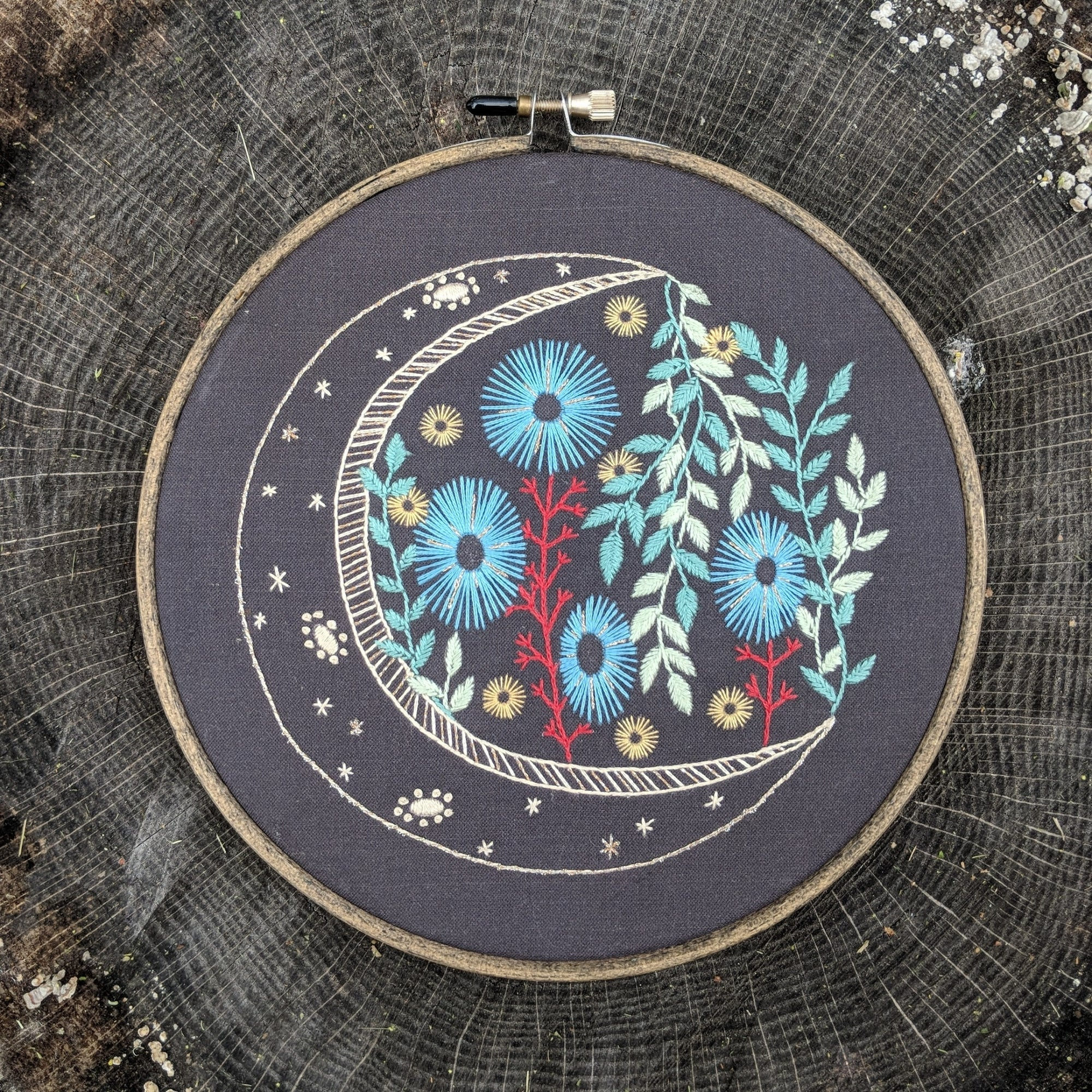 cozyblue Embroidery Pattern :: Night Garden Patterns - Snuggly Monkey