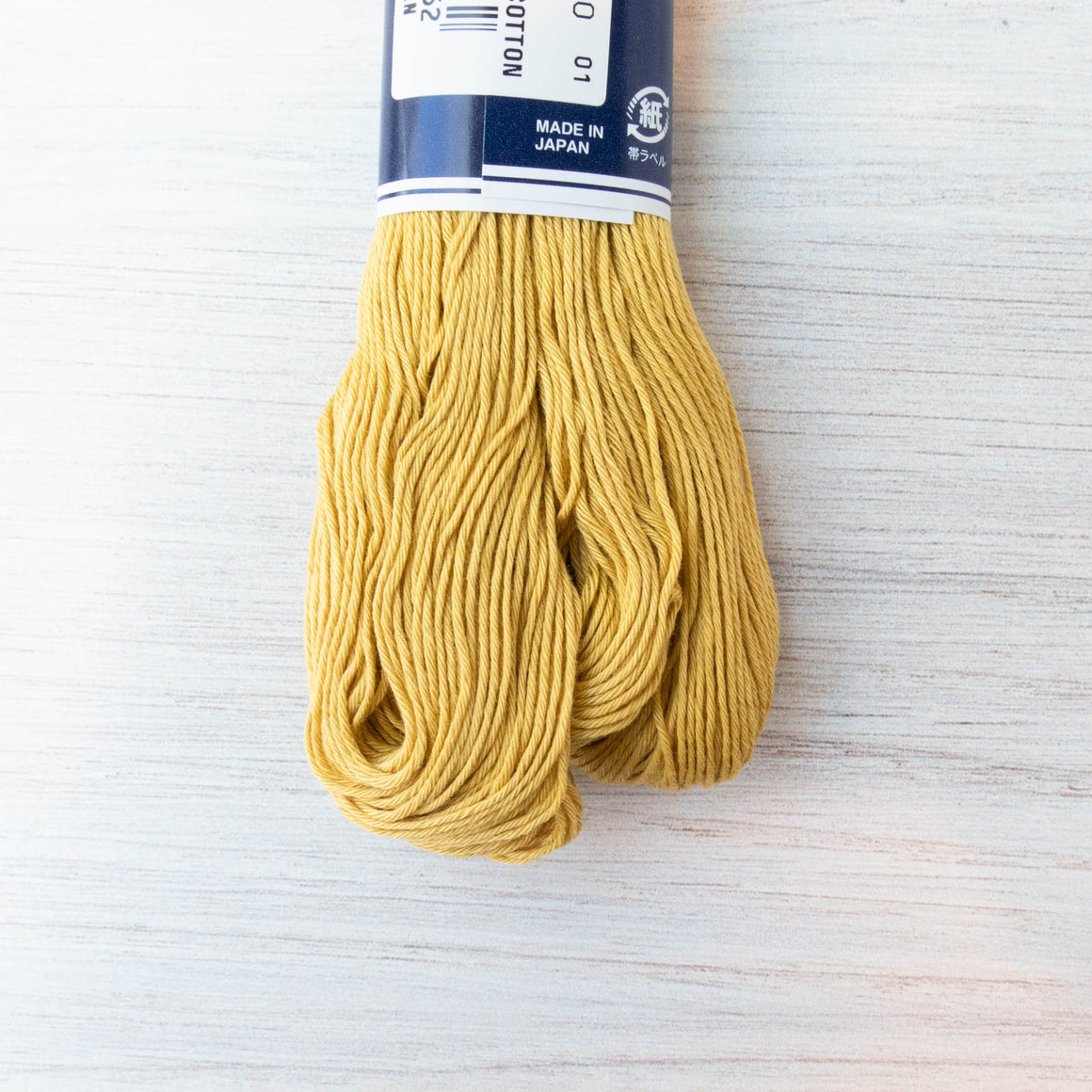100m Large Skein Japanese Sashiko Thread - Gold (#106) Sashiko - Snuggly Monkey