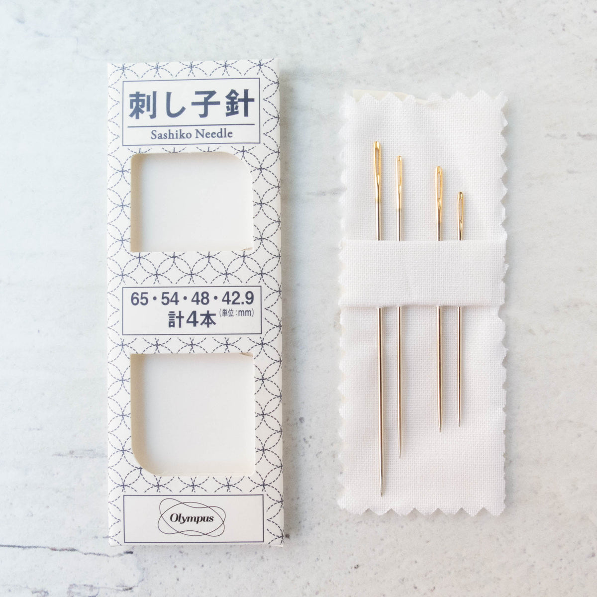 Olympus Gold Eye Sashiko Needles (4 pack)