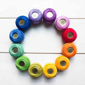 Perle Cotton Thread Set :: Color Wheel