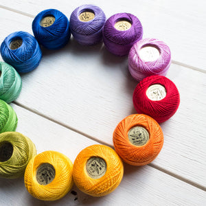 Perle Cotton Thread Set :: Color Wheel Perle Cotton - Snuggly Monkey