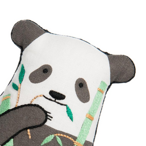 Panda Plushie Embroidery Kit by Kiriki Press Embroidery Kit - Snuggly Monkey